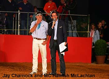 Jay Charnock and MC Hamish McLachlan