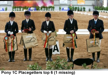 Pony Dressage Winners at the Saddleworld Dressage Festival